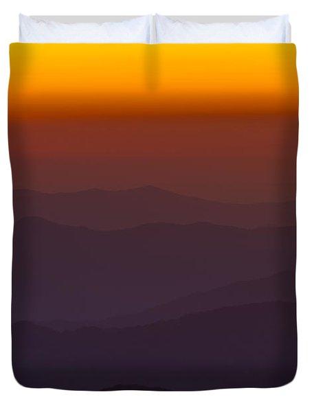 Mountain Sunset Duvet Cover by Steve Gadomski