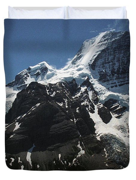 Mountain With Glacier And Snow Duvet Cover by Kelly Redinger