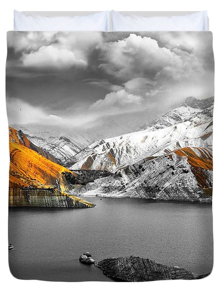 Mountains In The Valley 2 Duvet Cover by Sumit Mehndiratta