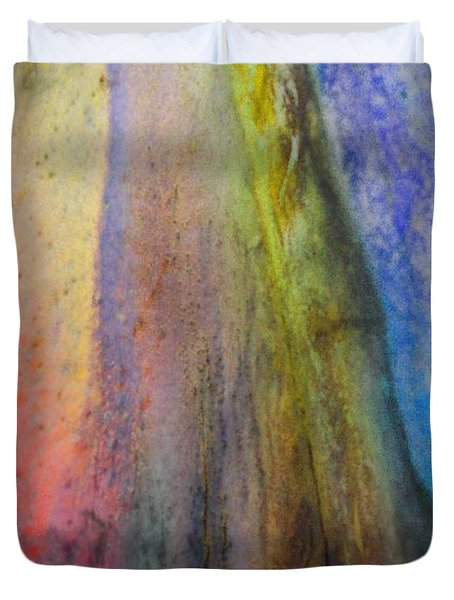 Duvet Cover featuring the digital art Move On by Richard Laeton