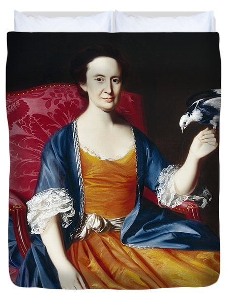 Mrs. Benjamin Hallowell Duvet Cover by John Singleton Copley