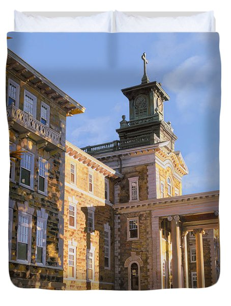 Mt St.Mary Academy Duvet Cover by Guido Borelli
