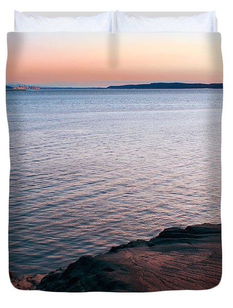 Mud Blushing Duvet Cover by Ron Day