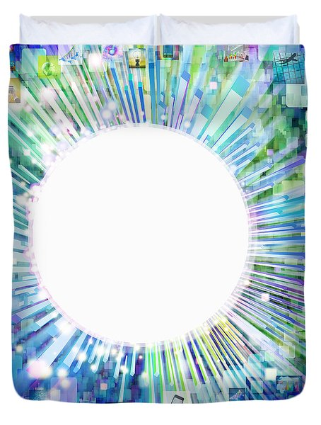 multimedia screen and graphic design Duvet Cover by Setsiri Silapasuwanchai