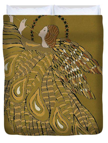 Musical Angel Duvet Cover by Gillian Lawson