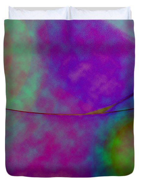 Muted Cool Tone Abstract Duvet Cover by Andee Design