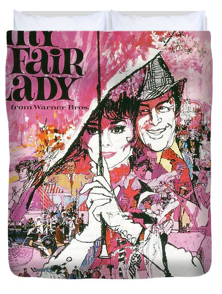My Fair Lady Duvet Cover by Nomad Art And  Design