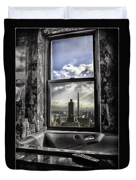 My Favorite Channel Is Manhattan View Duvet Cover by Madeline Ellis