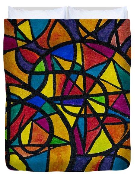My Three Suns Duvet Cover by Jaime Haney