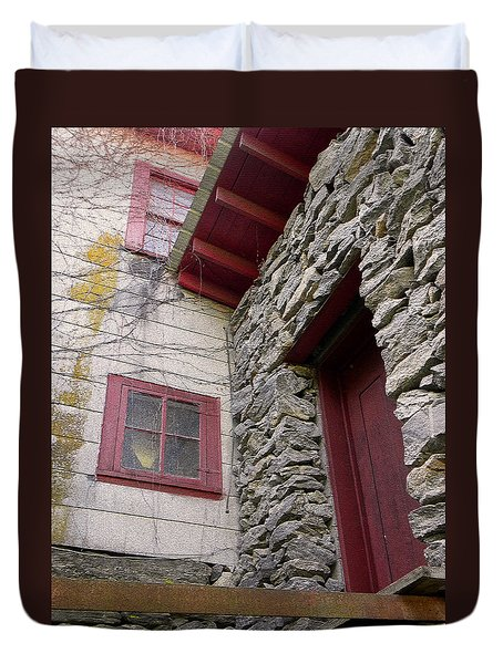 Mystery Of The Red Door Duvet Cover by Sandi OReilly