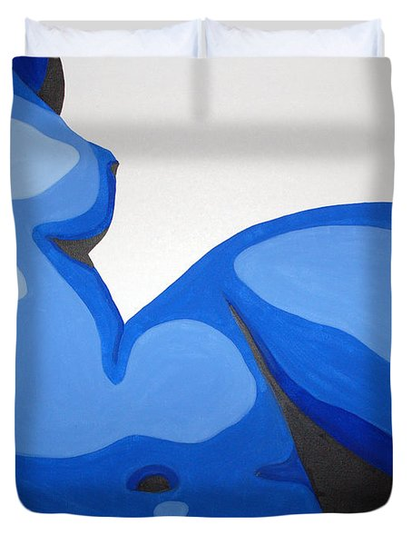 Naked Woman Duvet Cover by Michael Ringwalt