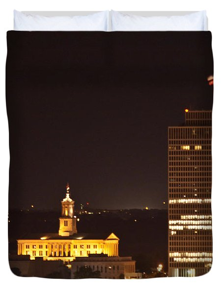 Nashville Cityscape 5 Duvet Cover by Douglas Barnett