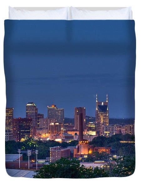 Nashville Cityscape 7 Duvet Cover by Douglas Barnett