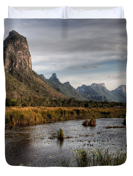 National Park Thailand Duvet Cover by Adrian Evans