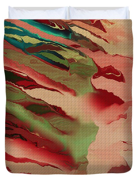 Native Abstract Weave Duvet Cover by Deborah Benoit