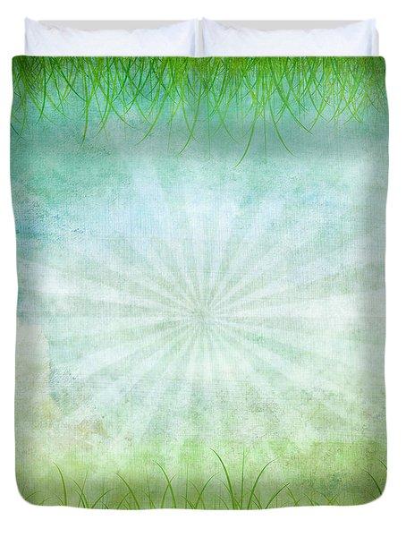 Nature Grunge Paper Duvet Cover by Setsiri Silapasuwanchai