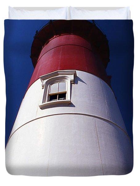 Nauset Beach Lighthouse Duvet Cover by Skip Willits