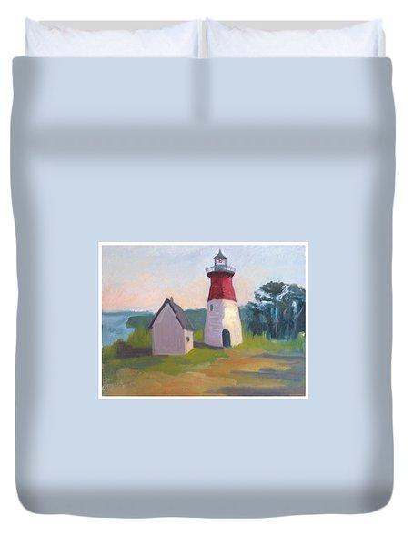 Nauset Lighthouse Cape Cod Duvet Cover by Suzanne Elliott