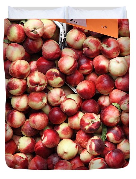 Nectarines - 5d17905 Duvet Cover by Wingsdomain Art and Photography