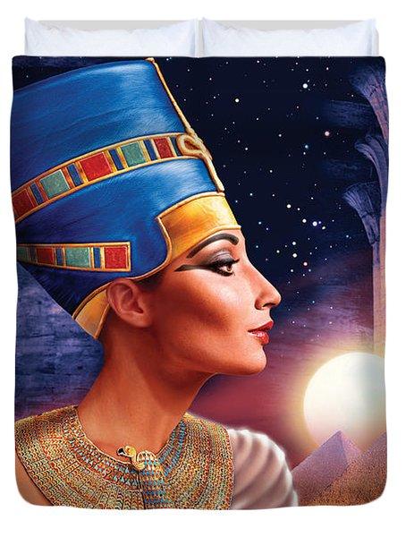 Nefertiti Variant 5 Duvet Cover by Andrew Farley