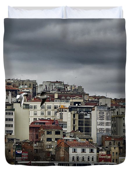 New District Skyline Duvet Cover by Joan Carroll