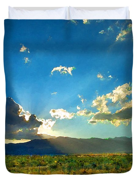 New Mexico Desert Duvet Cover by Betty LaRue