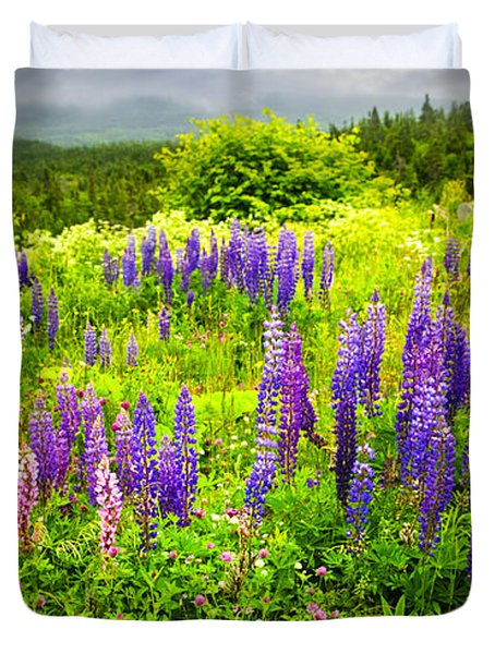 Newfoundland Meadow Duvet Cover by Elena Elisseeva