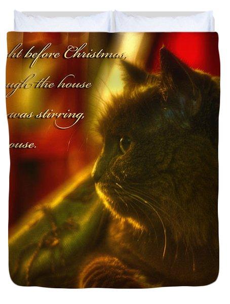 Night Before Christmas... Duvet Cover by Joann Vitali