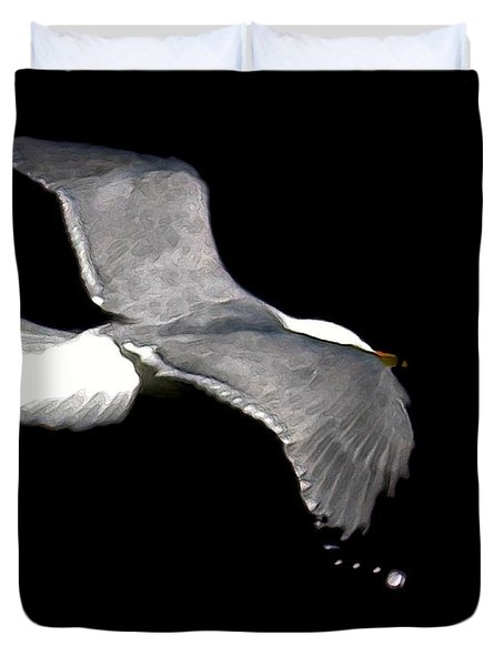 Night Flight Duvet Cover by Dale   Ford