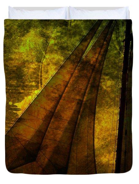 Night Sailing Duvet Cover by Susanne Van Hulst