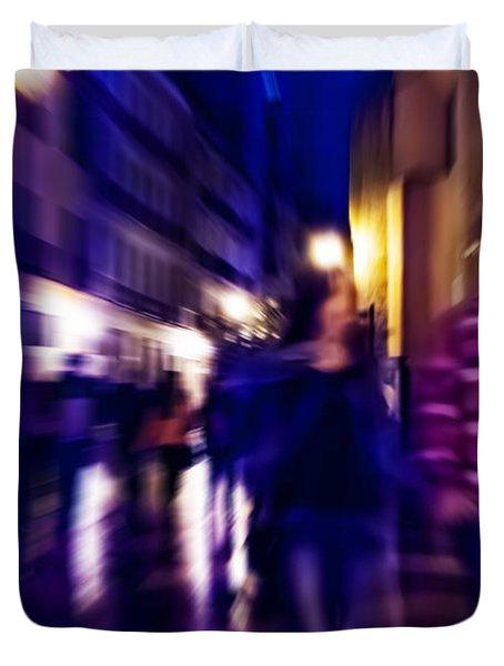 Night Walk. Tnm Duvet Cover by Jenny Rainbow