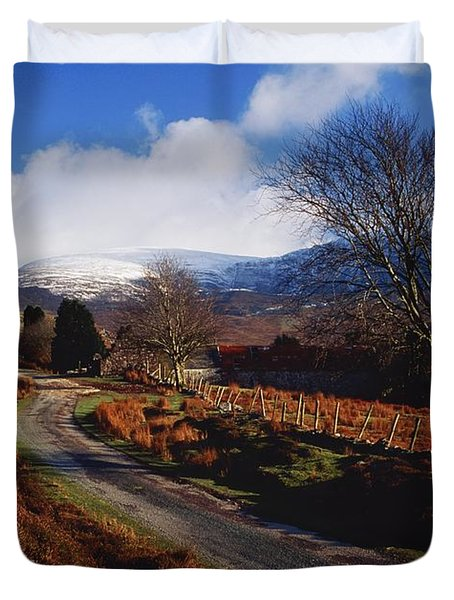 Nire Valley Drive, County Waterford Duvet Cover by Richard Cummins