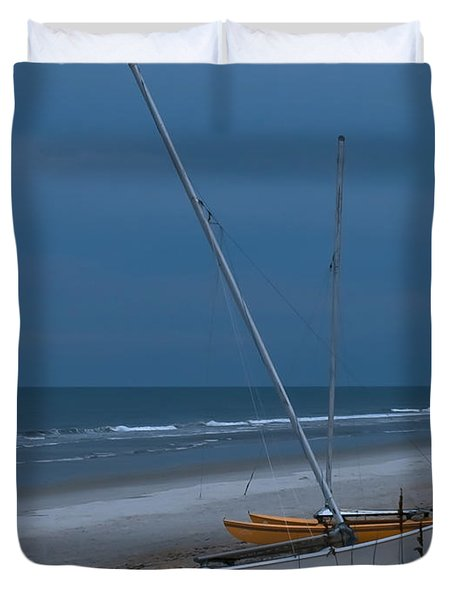 No Sailing Today Duvet Cover by DigiArt Diaries by Vicky B Fuller