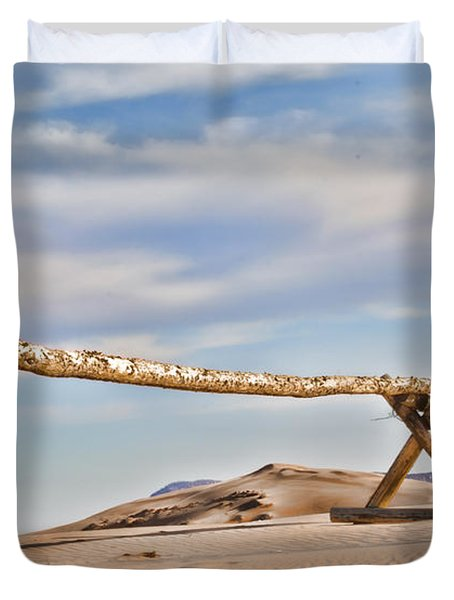 No Trespassing Duvet Cover by Heather Applegate
