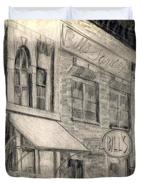 Noir Street Duvet Cover by Mel Thompson
