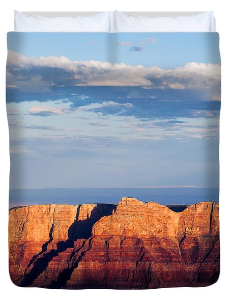 North Rim At Sunset Duvet Cover by Dave Bowman