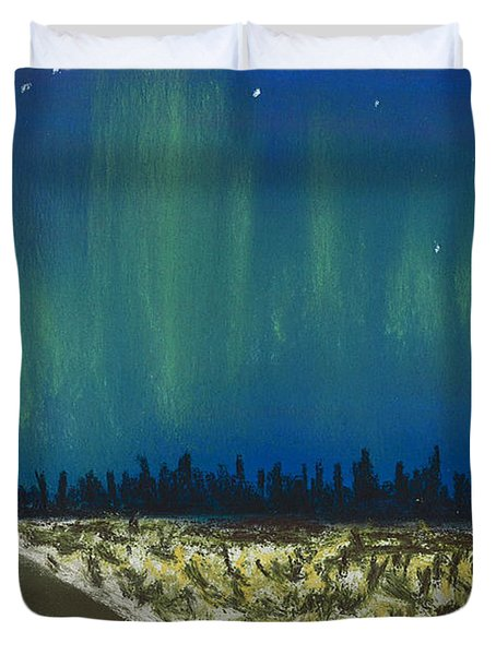 Northern Lights Road Trip Duvet Cover by Jackie Novak