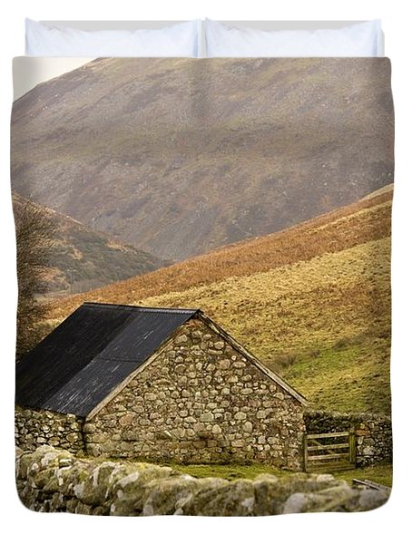 Northumberland, England Stone House Duvet Cover by John Short