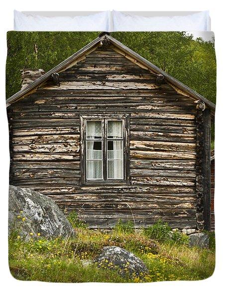 Norwegian Timber House Duvet Cover by Heiko Koehrer-Wagner