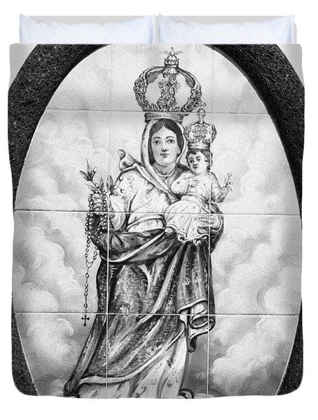 Nossa Senhora Da Paz Duvet Cover by Gaspar Avila