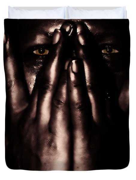 not my dark soul.. Duvet Cover by Stylianos Kleanthous
