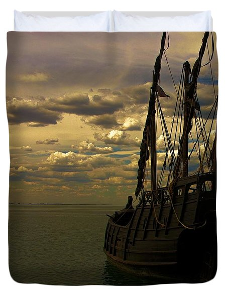 Notorious The Pirate Ship Duvet Cover by Blair Stuart