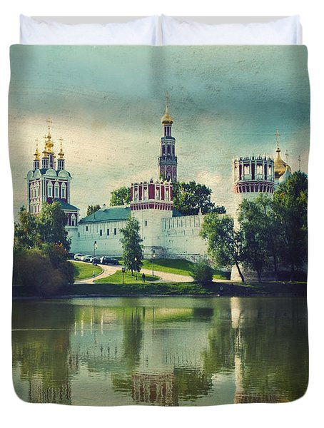 Novodevichy Convent. Moscow Russia Duvet Cover by Juli Scalzi