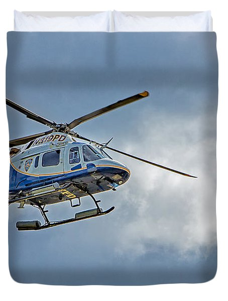NYPD Duvet Cover by Susan Candelario