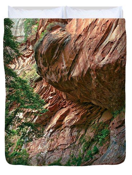 Oak Creek Canyon Walls Duvet Cover by Dave Dilli