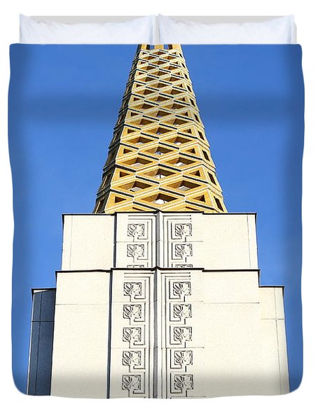 Oakland California Temple . The Church of Jesus Christ of Latter-Day Saints . 7D11339 Duvet Cover by Wingsdomain Art and Photography