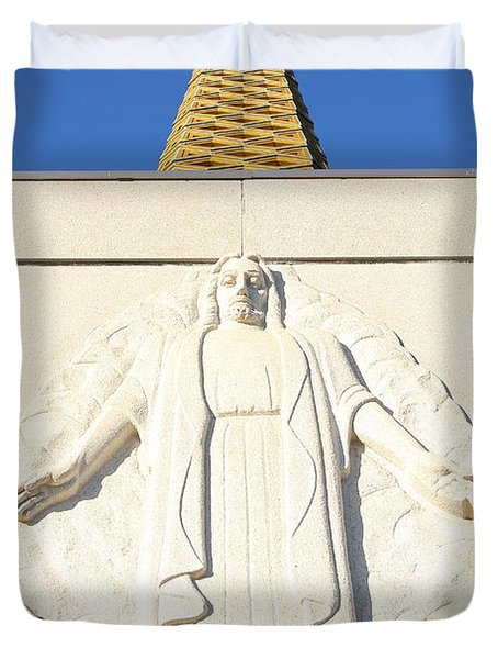 Oakland California Temple . The Church Of Jesus Christ Of Latter-day Saints . 7d11350 Duvet Cover by Wingsdomain Art and Photography