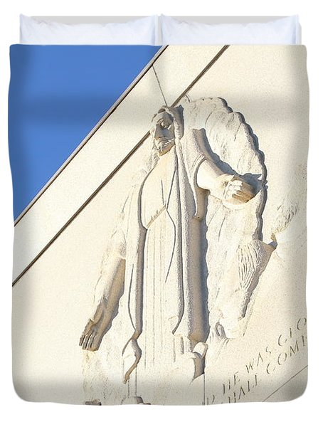 Oakland California Temple . The Church Of Jesus Christ Of Latter-day Saints . 7d11351 Duvet Cover by Wingsdomain Art and Photography