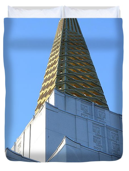 Oakland California Temple . The Church Of Jesus Christ Of Latter-day Saints . 7d11358 Duvet Cover by Wingsdomain Art and Photography