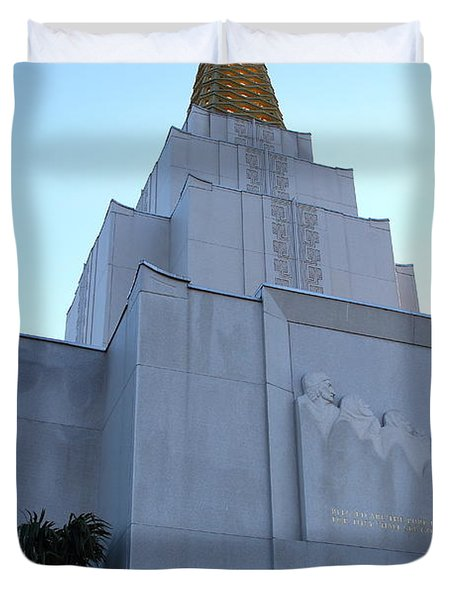 Oakland California Temple . The Church of Jesus Christ of Latter-Day Saints . 7D11364 Duvet Cover by Wingsdomain Art and Photography
